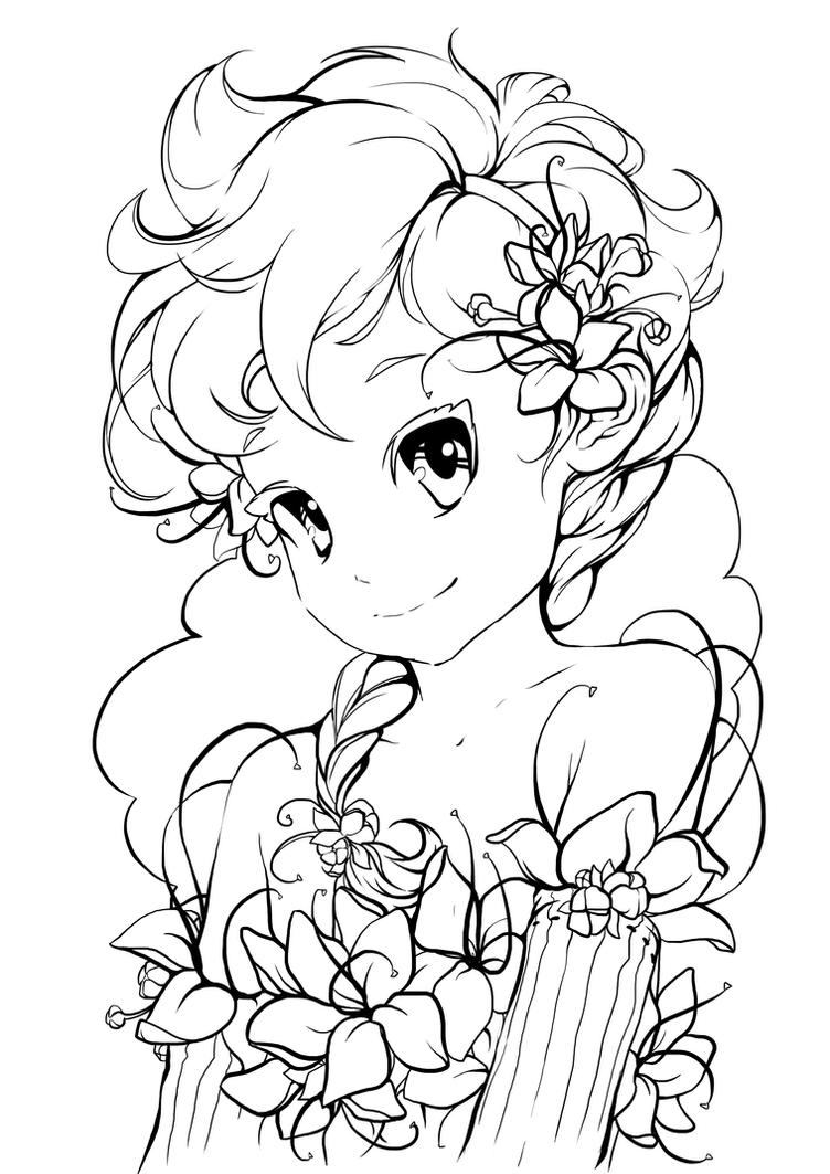 Line Art Deviantart : My little flower lineart by tsvetka on deviantart