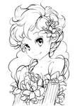 My Little Flower - lineart