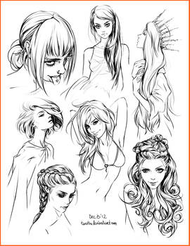 hair style sketches