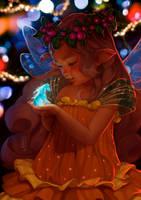 Baby elf and the Magic Unicorn by Tsvetka