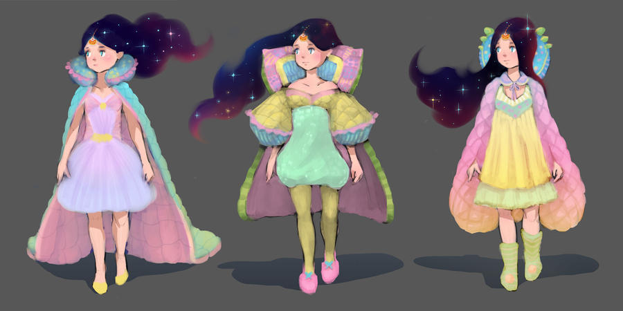 Queen Elinor's outfit design sketches