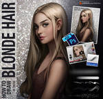 How to draw blonde hair