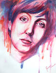 Watercolor of Paul McCartney
