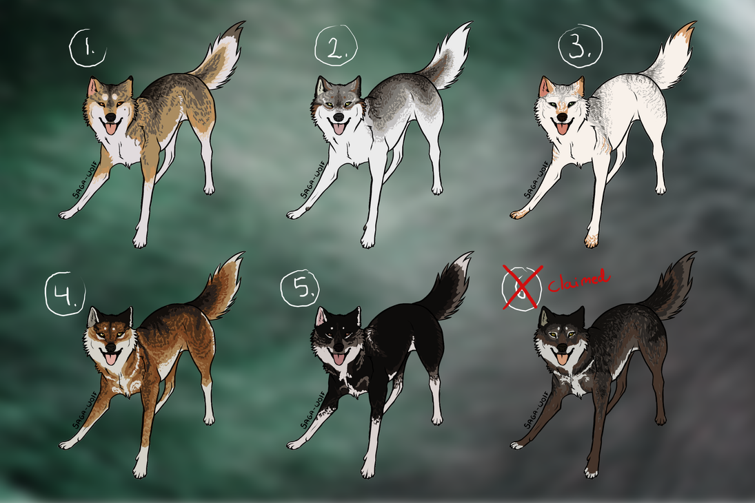 Natural wolf adoptables :TAKEN: by Kultapossu