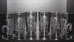 My Little Pony - Crystal Empire: Mane 6 Glass Set