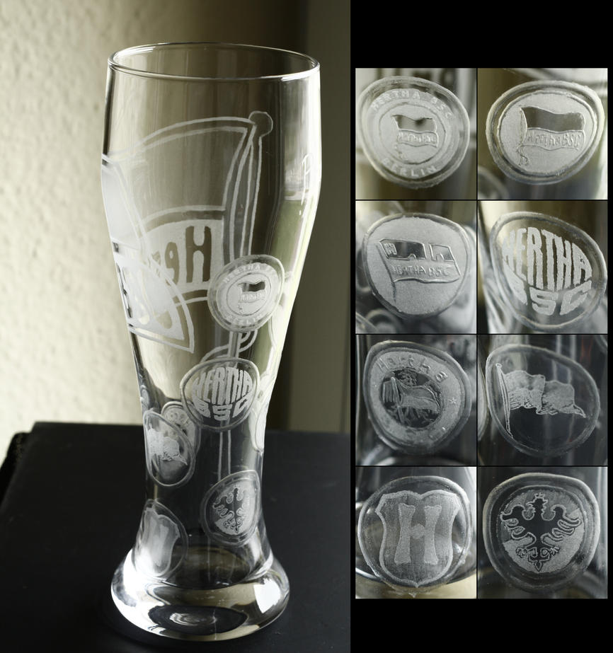 Hertha history wheat beer glass by rtry