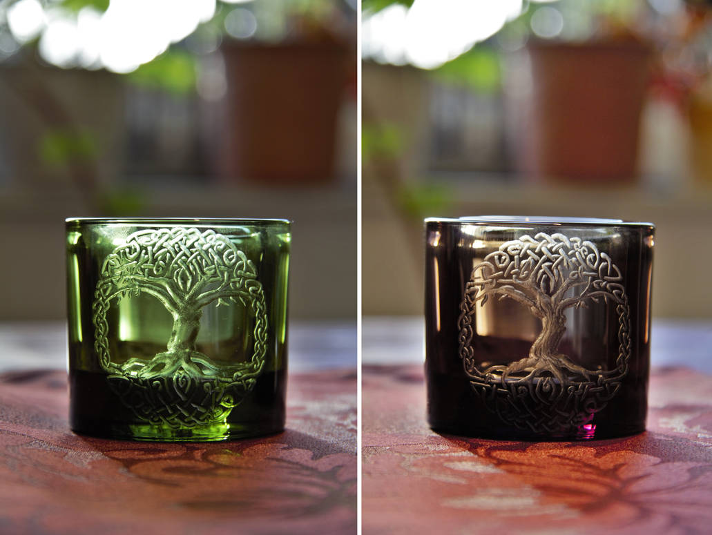 Yggdrasil candle light holders