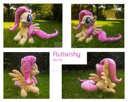 custom sitting Fluttershy Plushie