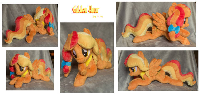 Golden Hour beanie / shoulder pony