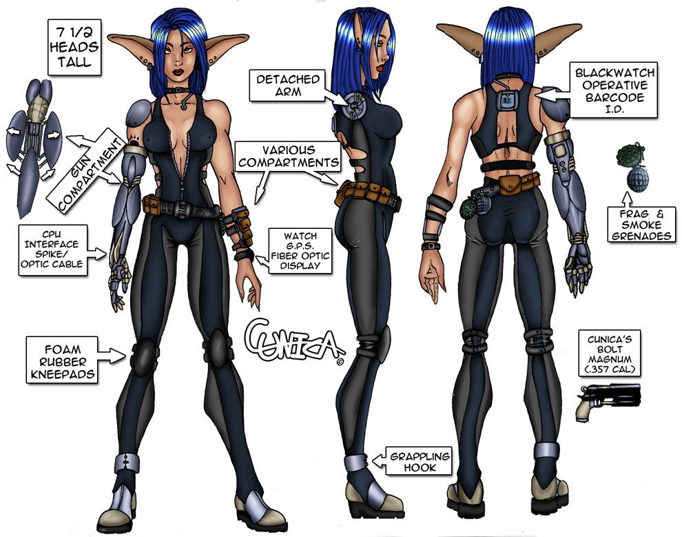 Character Design Page : Cunica character design page by liabra on deviantart