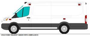 2016 Ford Transit Green Mtn Ambulance