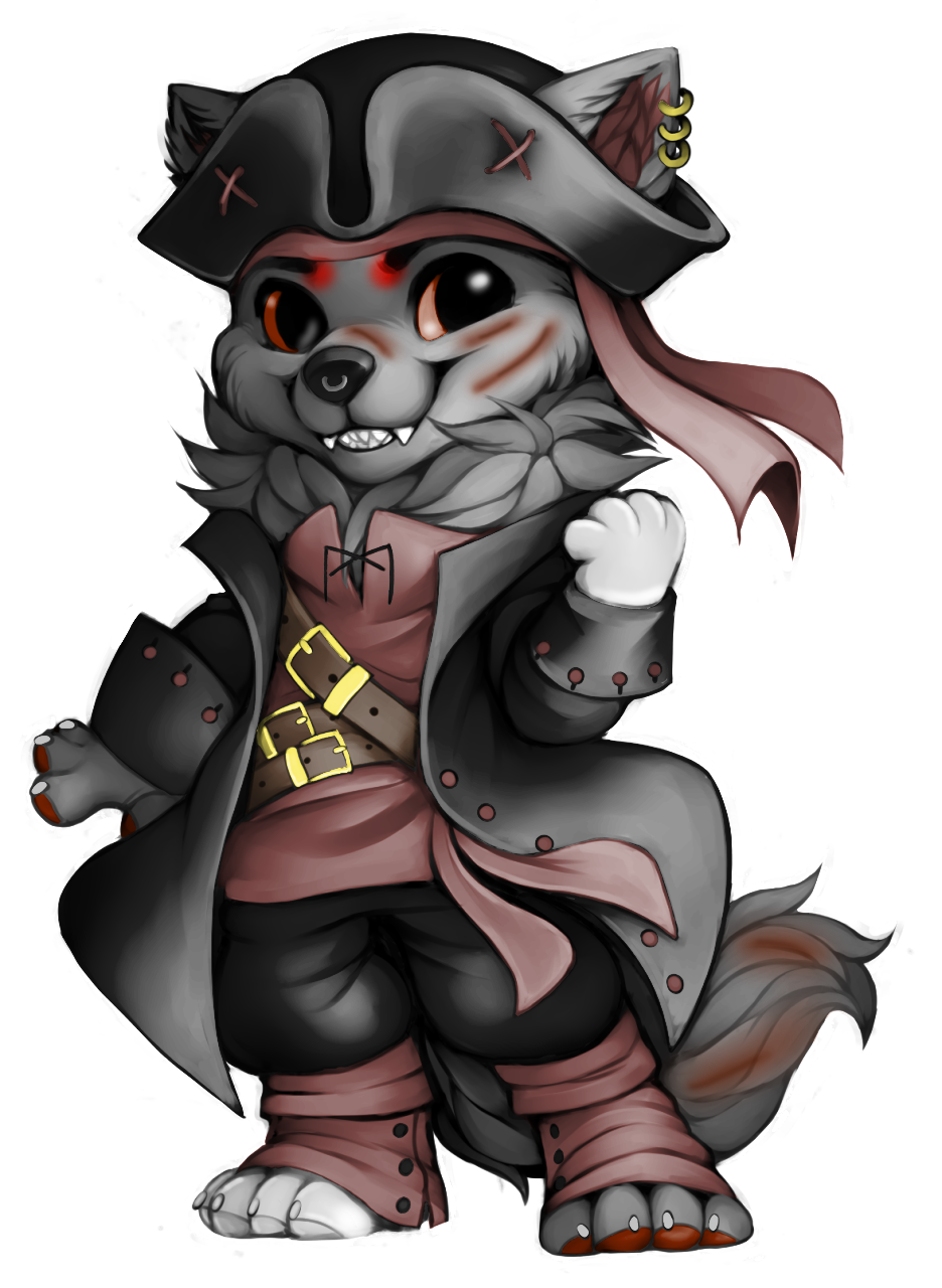 free fa pirate wolf hyena for hielodogwolf by tigerloveheart on