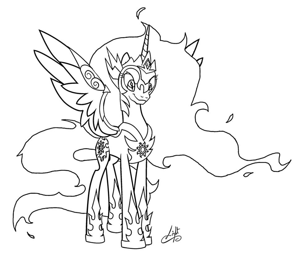 Princess Celestia And Luna Coloring Pages Princess