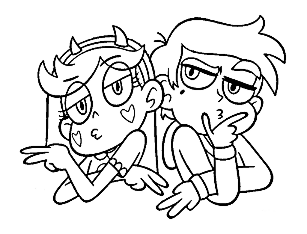 Star Vs The Forces Of Evil Coloring Page Marco By Sanorace