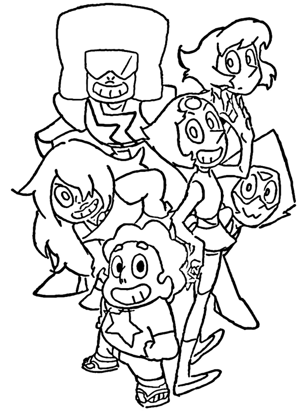 Steven Universe Coloring Page by Porigoshi by sanorace on DeviantArt