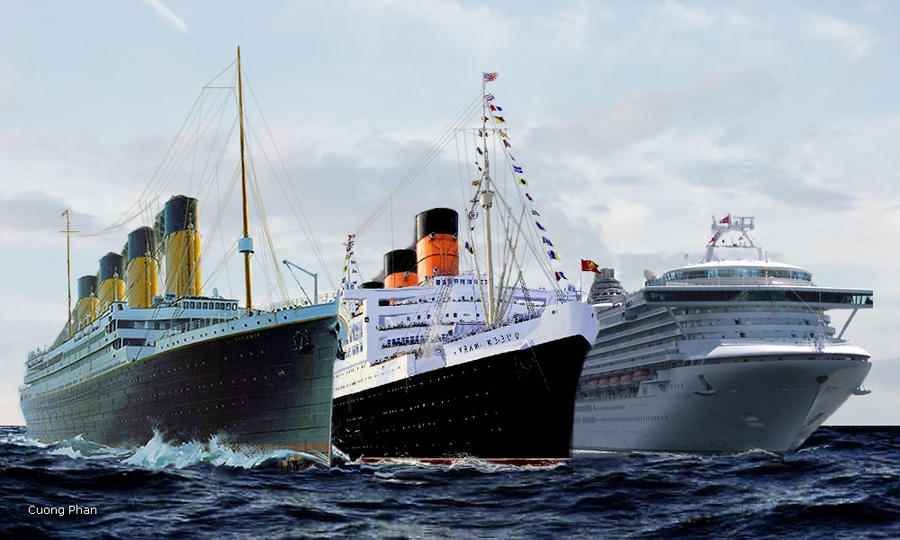Titanic Vs Two Ships By KaneTakerfan On DeviantArt - Biggest cruise ship ever compared to titanic