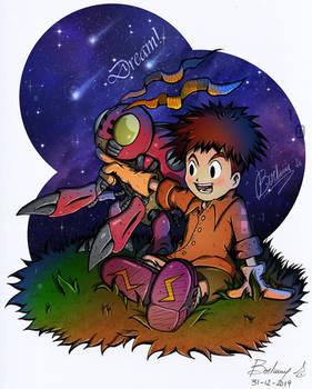 Koushiro Izumi and Tentomon