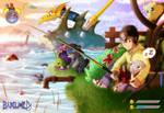 Hiro (or Mameo) and Mamemon! by Barlu