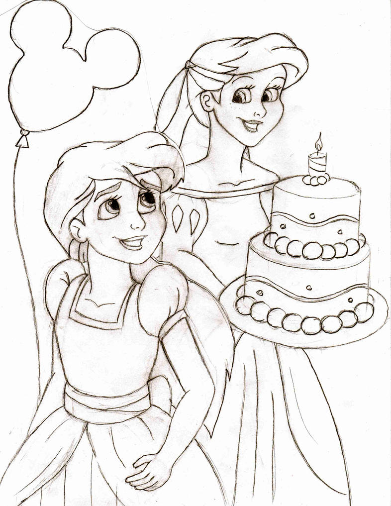 ariel coloring pages melody - photo#13