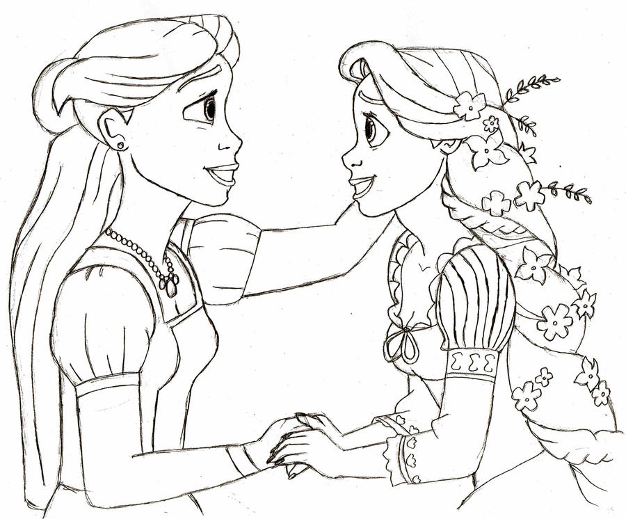 Rapunzel And Her Real Mother By Creepyland On Deviantart