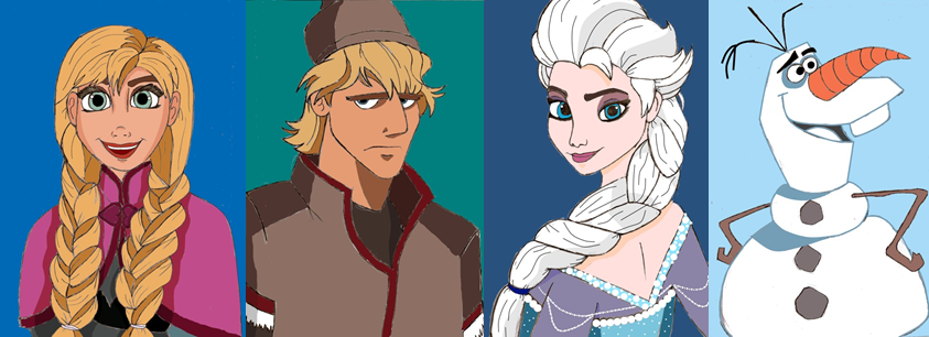 characters of disney s frozen by creepyland on deviantart