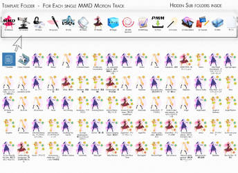 MMD Motion folders Template with icons