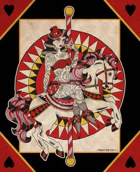 The horse tattoed lady