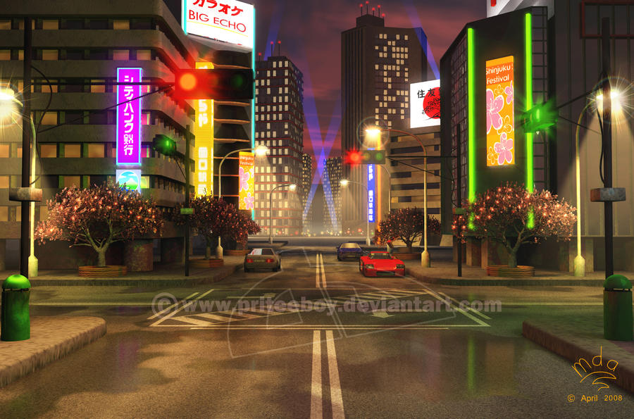 Background - Tokyo wewy comp by priteeboy