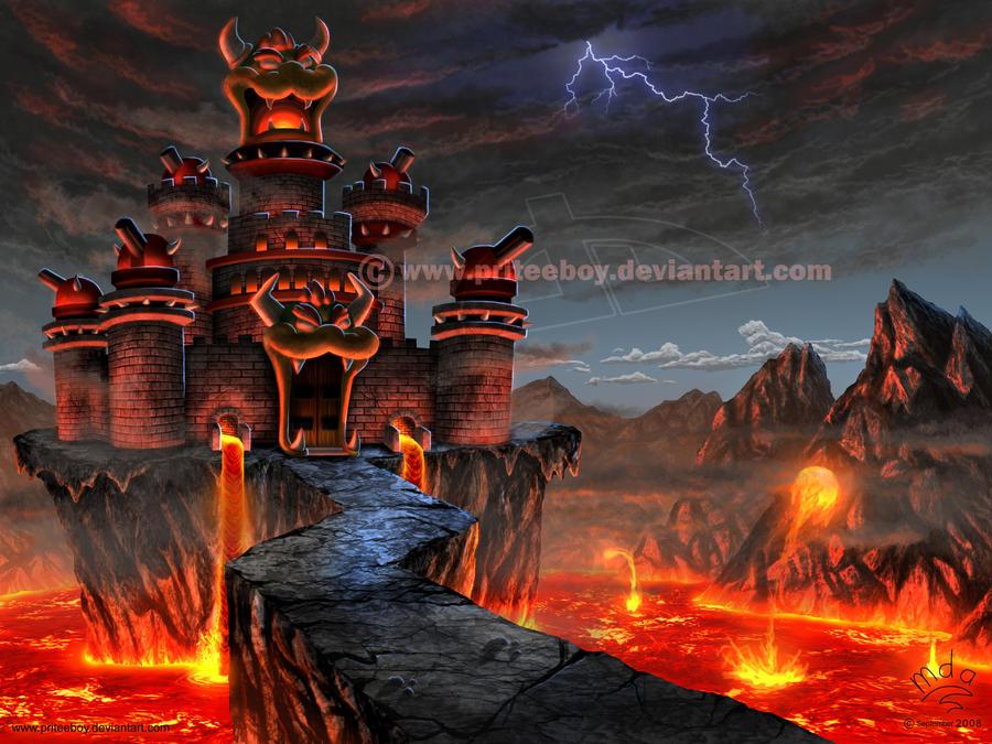 Bowser's Castle by priteeboy