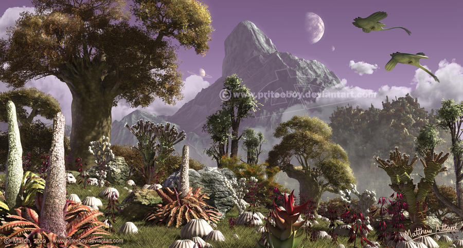 Life on other planets by priteeboyOther Planets With Human Life
