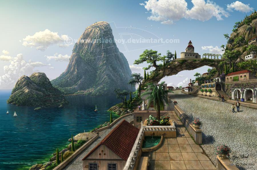 Mediterranean Village by priteeboy