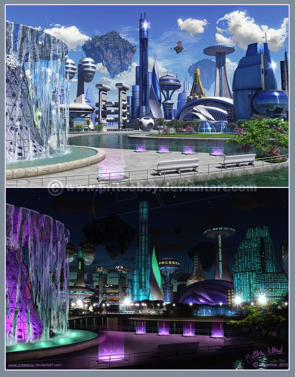 Commission: Bonre City by priteeboy