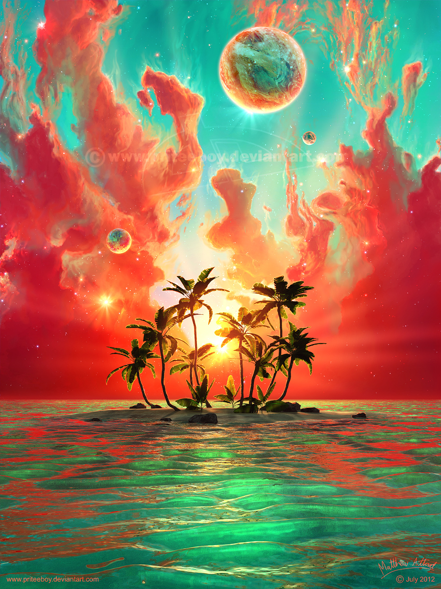 Summer paradise by priteeboy on deviantart for Photos to paint