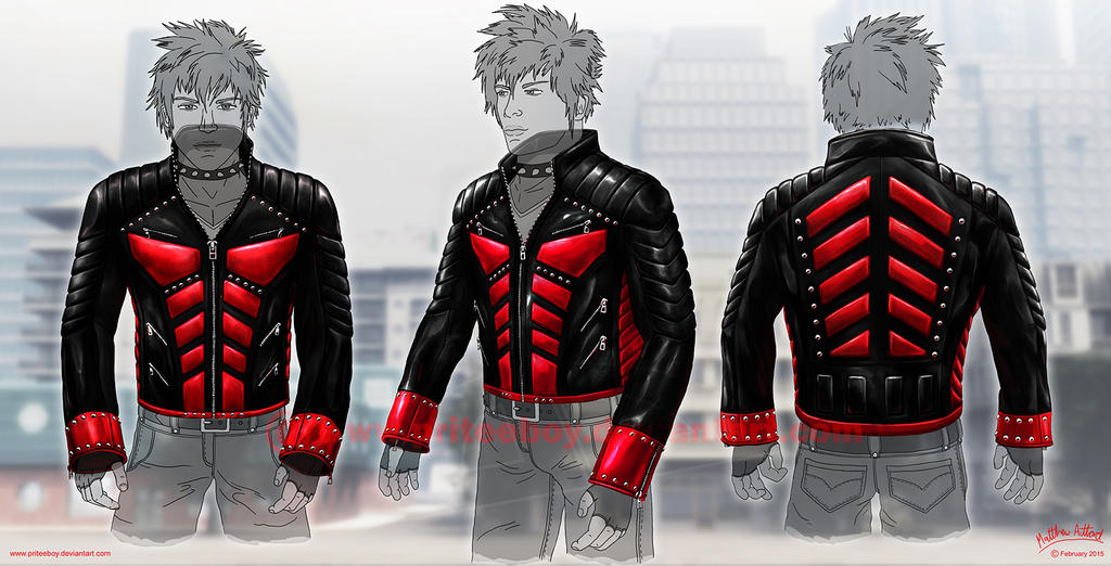 Anime Characters Leather Jacket : Anti hero leather jacket design by priteeboy on deviantart