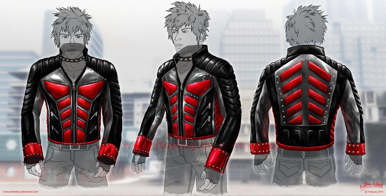 Anti Hero Leather Jacket - Grey by priteeboy