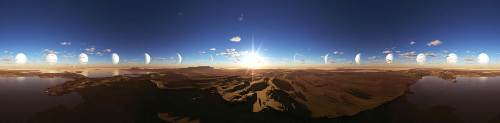 Planetary Lighting Relative to Sun by priteeboy