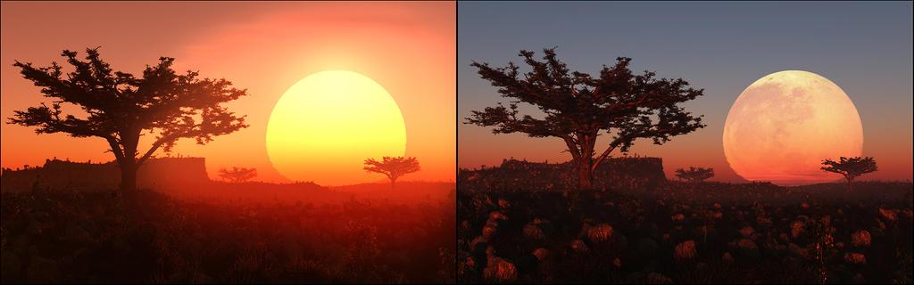 Horizon Distortion Example by priteeboy