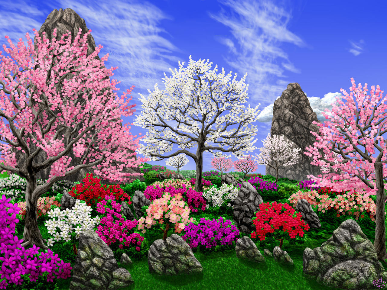 spring gardens by priteeboy on deviantart