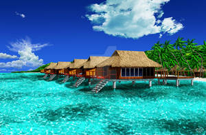 Paradise resort.