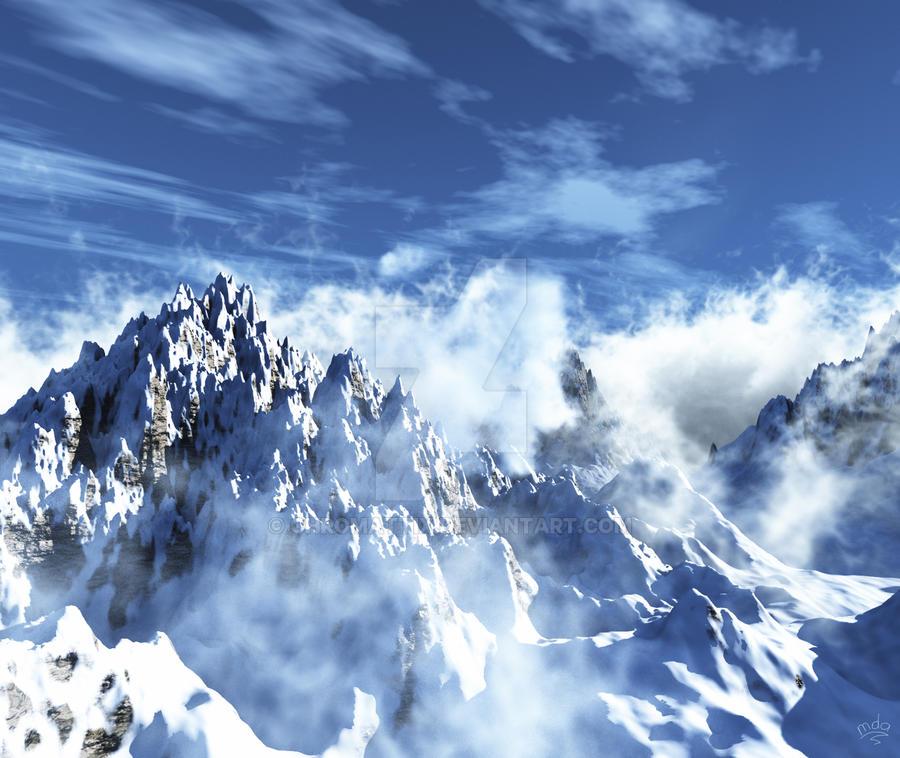 Snowy mountain by priteeboy