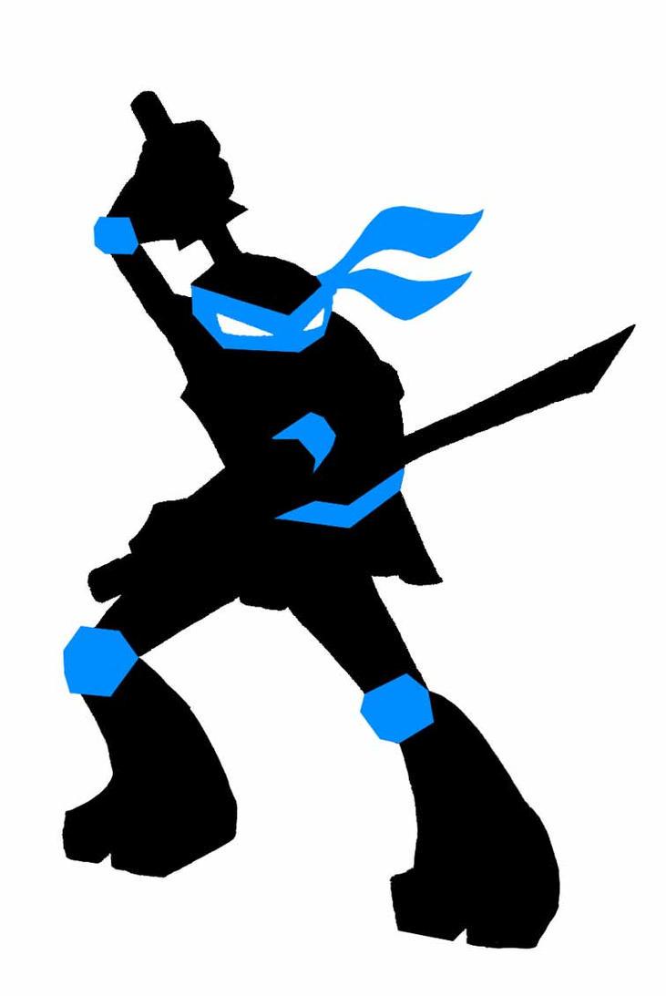 Ninja turtle silhouette