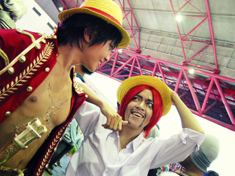 shanks and luffy cosplay by aurilianalence