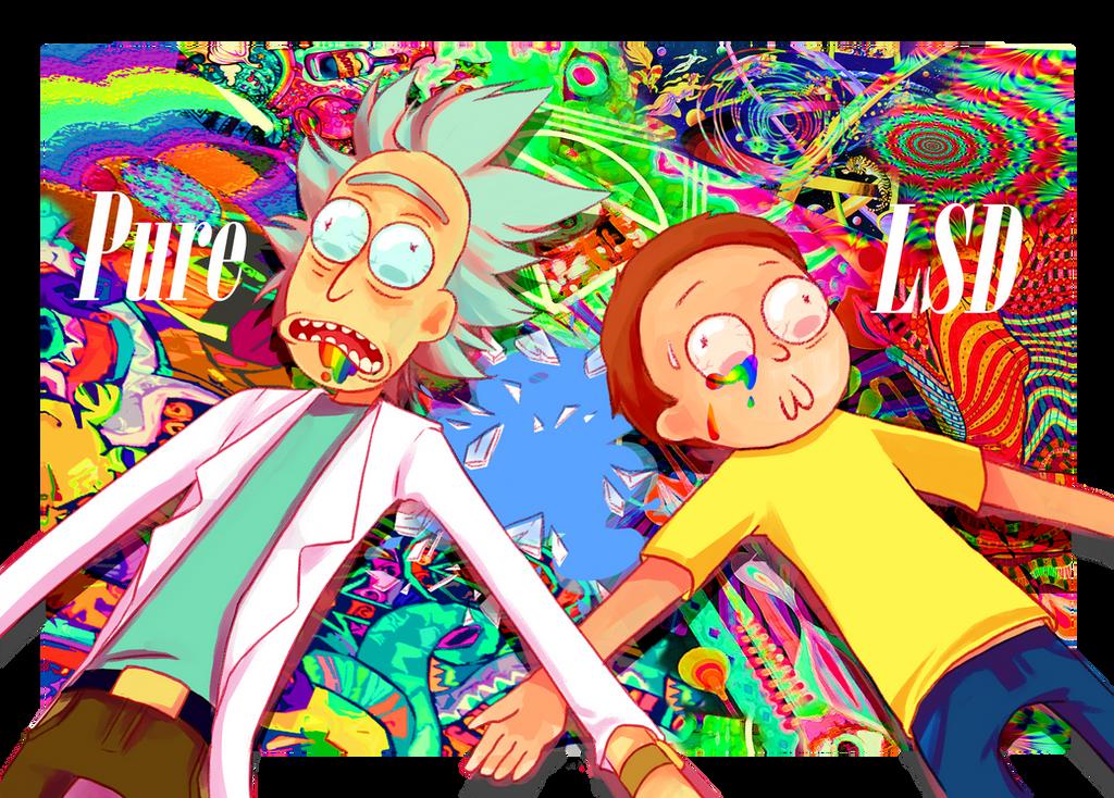 Rick and Morty pure LSD by Yoki-doki