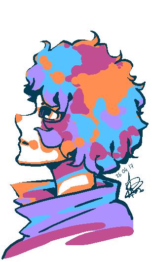 Purple Clown by Yoki-doki