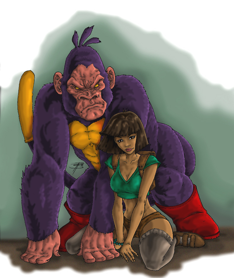 Dora and Boots the Gorrilla by mortalshinobi on DeviantArt