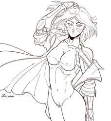 cyborg heroine by mortalshinobi
