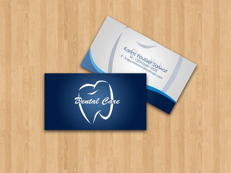 dentist visit card design