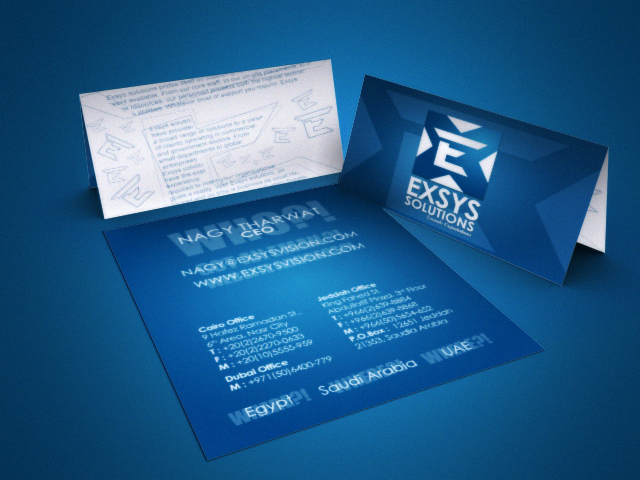 Exsys Solutions Business Card by XtrDesign