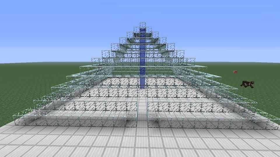 Minecraft Glass Pyramid By Batelg7 On Deviantart
