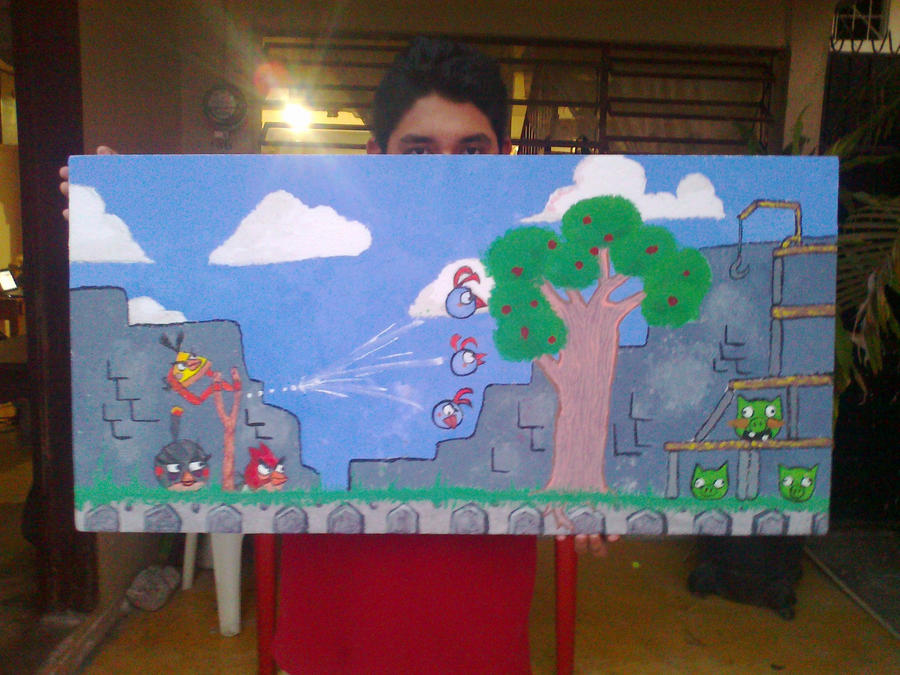Comision mural angry birds by desghostler on deviantart for Angry bird mural